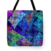 Computer Generated Abstract Julia Fractal Flame Tote Bag