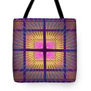 Computer Generated Fractal Squares Geometric Pattern Tote Bag