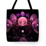 Computer Generated Pink Abstract Bubbles Fractal Flame Art Tote Bag