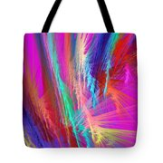 Computer Generated Pink Abstract Fractal Tote Bag