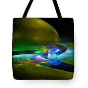 Computer Generated Planet Sphere Abstract Fractal Flame Modern Art Tote Bag