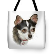 Computer Generated Portrait Of A Dog Tote Bag