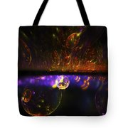 Computer Generated Red Blue Abstract Fractal Flame Modern Art Tote Bag