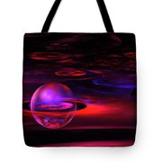 Computer Generated Sphere Red Abstract Fractal Flame Art Tote Bag
