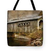 Comstock Bridge 2012 Tote Bag by Deborah Benoit