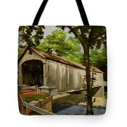 Comstock Covered Bridge East Hamptom Connecticut Tote Bag