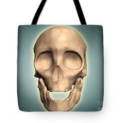 Conceptual Image Of Human Skull, Front Tote Bag by Stocktrek Images