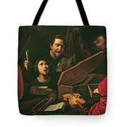 Concert With Musicians And Singers, C.1625 Oil On Canvas Tote Bag
