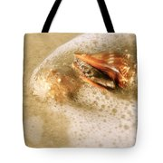 Conchs In Surf 1 Antique Tote Bag