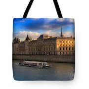 Conciergerie And The Seine River Paris Tote Bag