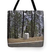 Concrete Pillar On A Highway Tote Bag
