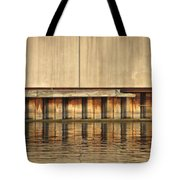 Concrete Wall And Water 1 Tote Bag