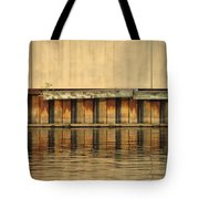 Concrete Wall And Water 2 Tote Bag