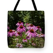 Cone Flower And Bee Tote Bag