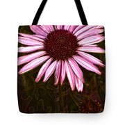 Coneflower And Dusty Miller Hdr Tote Bag