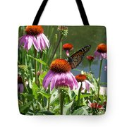 Coneflower With Butterfly Tote Bag