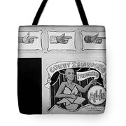 Coney Island Alive In Black And White Tote Bag