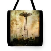 Coney Island Eiffel Tower Tote Bag