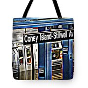 Coney Island Train Station Tote Bag