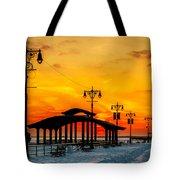 Coney Island Winter Sunset Tote Bag