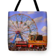 Coney Island Wonder Wheel Tote Bag