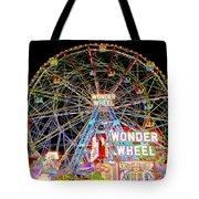 Coney Island's Famous Amusement Park And Wonder Wheel Tote Bag