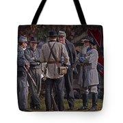Confederate Civil War Reenactors With Rebel Confederate Flag Tote Bag