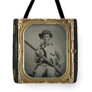 Confederate Soldier With Shotgun Tote Bag
