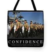 Confidence Inspirational Quote Tote Bag by Stocktrek Images