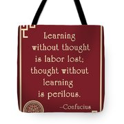 Confucius On Critical Thinking Tote Bag