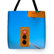 Confusing Green Red Traffic Lights Sky Copyspace Tote Bag