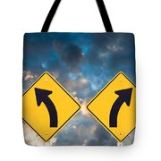 Confusing Road Signs Tote Bag