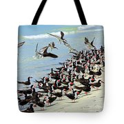 Congregating Skimmers Tote Bag