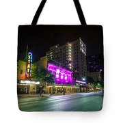 Congress Street In Downtown Austin Tote Bag