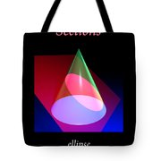 Conic Section Ellipse Poster Tote Bag