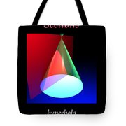 Conic Section Hyperbola Poster Tote Bag