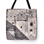 Conic Stairs In The White City Tote Bag