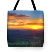 Conifer Sunrise Tote Bag