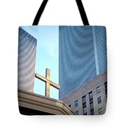 Connected By The Cross Tote Bag
