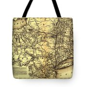 Connecticut And Western Railroad Map 1871 Tote Bag