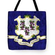 Connecticut Flag Tote Bag