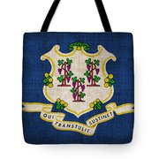 Connecticut State Flag Tote Bag