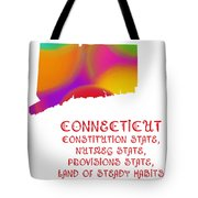 Connecticut State Map Collection 2 Tote Bag