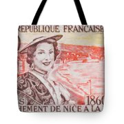 Connecting The Nice France 1860-1960 Tote Bag