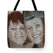 Connie And Jordanna Tote Bag