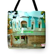 Connie's Pizza Psc Rue Charlevoix Near Grand Trunk Autumn Scene Pointe St Charles Art Carole Spandau Tote Bag
