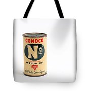 Conoco Motor Oil Piggy Bank - Antique - Tin Tote Bag by Andee Design
