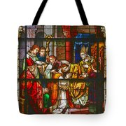 Consecration Of St Augustine Stained Glass Window Tote Bag