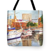 Constitution Dock In Hobart Tasmania Tote Bag