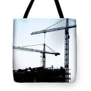 Construction Cranes Tote Bag